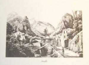 Stampa antica cartiera ad Amalfi