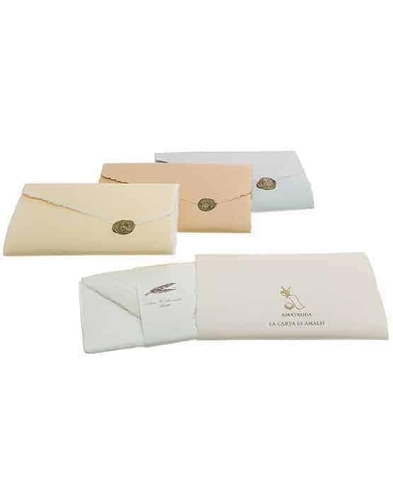 Buste Partecipazioni Matrimonio.Confezione Colorata 10 Cartoncini 13x8 E 10 Buste Avorio Amalfi